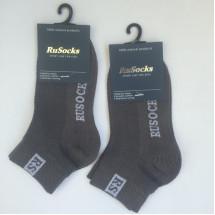 Носки детские укороченные серого цвета RuSocks